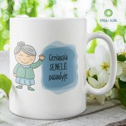 Puodelis: Geriausia močiutė...